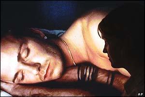 David asleep